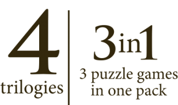 4 trilogies - 3 puzzle games in one pack